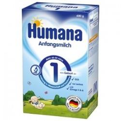 Lapte praf Humana 1 GOS 600gr