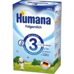 Lapte praf Humana 3 Prebiotic 600gr