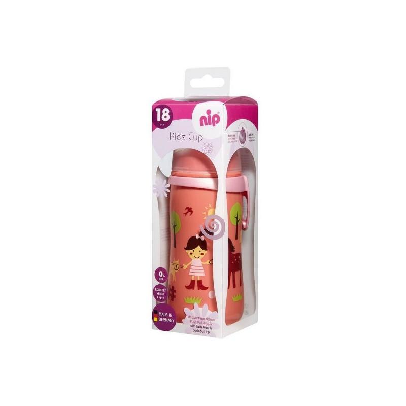 Cana Kids Cup Girl PP 330 ml antipicurare cu clip de prindere 18+ luni Nip
