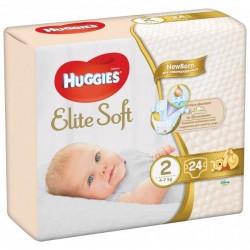 Scutece Huggies Newborn Elite Soft Nr 2 cu bumbac 24buc 4-7 kg