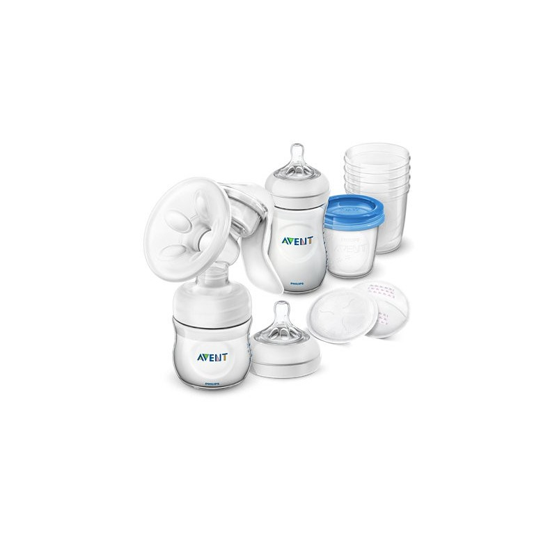 Set de alaptare cu pompa de san manuala Comfort Philips Avent SCD221/00